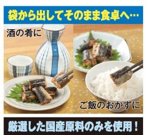 境港産 漁師町の柔らか いわし煮12袋セット(55155-000)