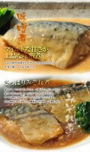 ≪送料無料≫ノルウェー産 鯖(サバ・さば)のみそ煮・みぞれ煮20Pセット 1P85g各10P ※冷凍 ☆
