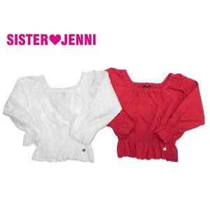 JENNI ジェニィ ジェニー 子供服 18春 コットンレースオフショルダーブラウス je84868