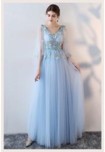 新品 トレーン パーティドレス 韓国風★ロングドレス 演奏会 結婚式 ウェディングドレス ピアノ 発表会 二次会 編み上げ