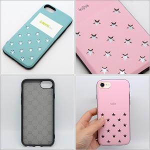 Kajsa カイサ Polka star pocket back case ポルカスターポケットバックケース iPhone8 iPhone7 iPhone6S iPhone6 星【メール便OK】