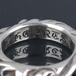 銀座 クロムハーツ スクロール バンド リング 指輪 SV925 約3.5号