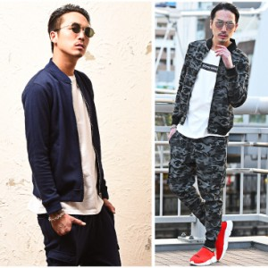 ◆送料無料◆セットアップ メンズ スウェット MA-1 上下 ジョガーパンツ カーゴパンツ MA1 trend_d