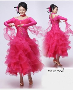 ドレス 社交ダンス 超豪華なワンピース ダンス衣装/モダンダンス ワルツ 大人用 dance ダンスウェア ラテンドレスレディース