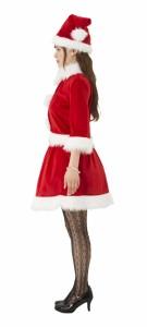 クリスマス サンタ コスプレ 衣装 レディース 女性 サンタクロース コスチューム ベイシックサンタ レッド