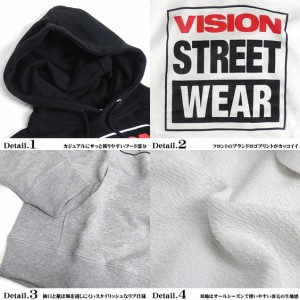 VISION STREET WEAR パーカー スウェット ヴィジョンストリートウェア プルオーバーパーカー VISION-102