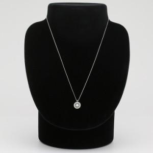 揺れるダイヤ ダイヤモンド ネックレス ダンシングストーン 0.2カラット 一粒 ホワイトゴールド K18 0.2ct [71-806504]