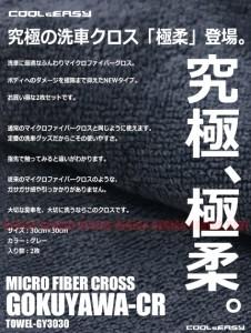 【メール便 送料無料】 マイクロファイバー 洗車クロス 30cm×30cm 2枚セット