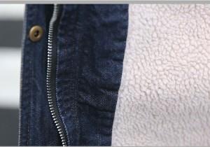 裏ボア 秋冬 レディースコート JKTデニムコート ジージャン デニムジャケット 厚手 フード付き 裏起毛 オシャレ シンプル 2017新作