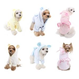 PAバスガウン・バスローブ・S,SM,M,Lサイズ Puppy Angel Bath Gown PUPPYANGEL パピーエンジェル 犬 服 洋服 犬服 犬の服 犬の