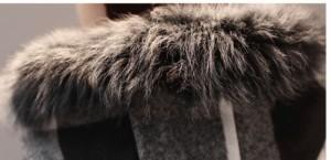 ウールコートファーフード付きポケット付きチェック柄秋冬アウター XTAL8007