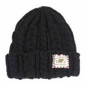 【帽子】男女兼用◆Ruben ワッペン付 ウールMIX ニットワッチ ニット帽【iti hcx】