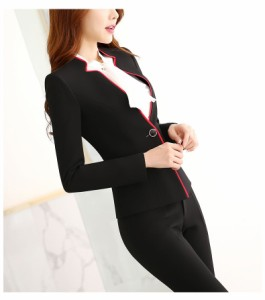 レディース 1ボタンパンツスーツ スカートスーツ2点セットスーツ 事務服フォーマル面接 制服OL 細身ビジネス 通勤