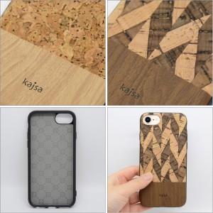 Kajsa カイサ CorkWood back case コルクウッドバックケース iPhone8 iPhone7 iPhone6S iPhone6 ナチュラル【メール便OK】