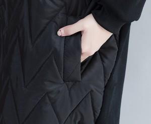 大きいサイズ レディース ダウンコート風ロングパーカー プルオーバー アウター モード 冬 新作【予約】bcoc-25329TS