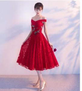 大きいサイズパーティードレス  結婚式 ドレス イブニングドレス 花嫁 ミニドレス  二次会ドレス卒業式 パーティドレス