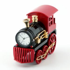 ミニチュア置時計 C3586-BKRD 汽車 機関車 電車 レッド ブラック 赤黒 ミニチュアクロックコレクション