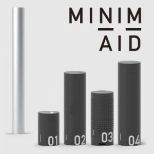 ミニメイド MINIM+AID 防災セット 防災グッズ ランタン ラジオ ポンチョ 懐中電灯 水筒 充電器 ホイッスル 小物ケース