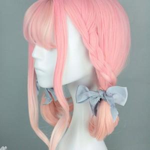 ピンク グラデーション ウィッグ かつら コスプレ ゆめかわ やみかわ ロリータ 創作 フルウィッグ 耐熱ウィッグ ハロウィン 仮装
