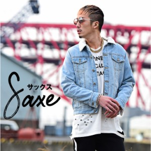【SALE】 Gジャン メンズ デニムジャケット ジージャン ボア 裏ボア ボアGジャンジャケット デニム サーフ系 trend_d