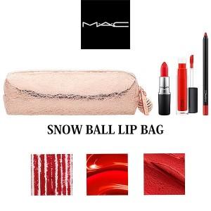 数量限定 MAC/マック クリスマスコフレ スノーボール リップ バッグ レッド