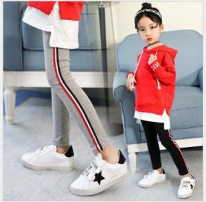 DW 女の子 韓国子供服 新品 春秋着  純綿 子ども服 お洒落 ボーダー柄 ロングパンツ Fashion レジャー  ボトムス カジュアル パンツ