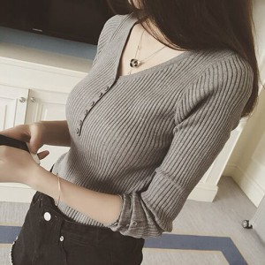 【お取り寄せ商品】毎日着たい優秀ニット♪ シンプル 無地Vネックセーター ALOC10837