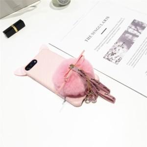 iphone6s Plus/iPhone6 Plus/iPhone7 Plus/iPhone7/iPhone8 Plus/iPhone8/iPhoneXケース猫耳毛玉ケース【wn291】