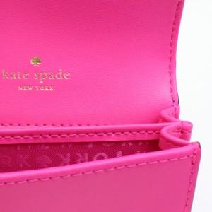[あす着]ケイトスペード KATESPADE 名刺入れ 名刺 カードケース レザー 本革 ピンク wlru4888-670