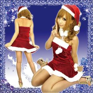 サンタ コス サンタコスチューム サンタコス 衣装 仮装【ファーティペット&帽子付サンタコスプレ】