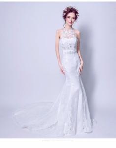 ラグジュアリー マーメイドライン ウエディングドレス 花嫁 結婚式 ドレス 二次会 披露宴パーティ 演奏会 発表会 ロングドレス