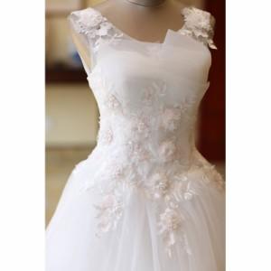 805d3b09fbbc8 花嫁ドレス ウエディングドレス披露宴二次会気質バックレス Aライン ロングドレス 白ホワイト ウエディングドレス ☆格安 結婚式 花嫁