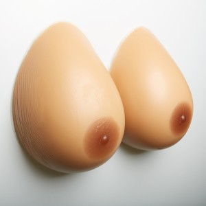600g Bカップ 自然な一体感 粘着 貼付 式 シリコンバスト 左右 2個 人工乳房 偽胸 コスプレ 女装 仮装