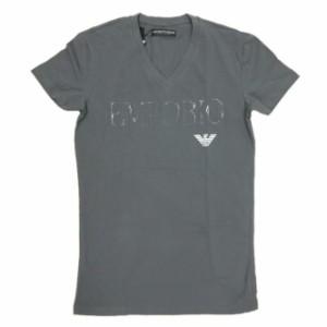 【セール 30%OFF!】EMPORIO ARMANI UNDERWEAR エンポリオアルマーニアンダーウェア メンズVネックTシャツ 110810 8P525 ブラック
