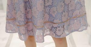 花柄レース ウエストマーク付き Aラインワンピ 花柄 レース ウエストマーク Aライン 上品 美シルエ エレガント 結婚式 2次会