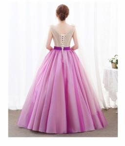 2018新作ロングドレス ウェディングドレス パーティドレス お呼ばれ ピアノ 発表会 フォーマルドレス 演奏会 結婚式ドレス