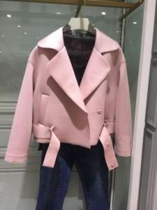 シンプルな女性 2017年冬服新しい長袖襟ジャケット刺繍のショート ジャケット ブラウス
