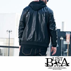 ライダースジャケットメンズ大きいサイズペイント袖ポケットMA-1ma1ミリタリージャケットB系ストリート系ヒップホップビックサイズ西海岸