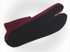 ラインストーン刺繍ストレッチ足袋桜黒ボルドーフリー 振袖成人式・卒業式袴&着物に 日本製