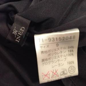 イネド スカート F1237 黒 / ブラック INED 無地