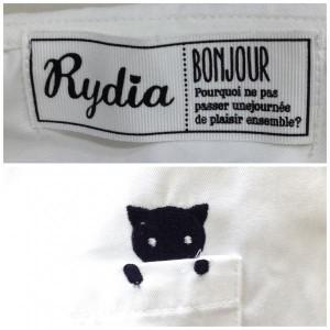 リディア コビニャー セーラー シャツ 半袖 0242502 白 / ホワイト、黒 / ブラック Rydia 無地、アニマル柄