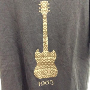 ナンバーナイン デジタルギタープリントTシャツ K4021 茶 / ブラウン NUMBER (N)INE