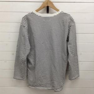 イッテン ボーダーTシャツ カットソー 19A1457 白 / ホワイト × 黒 / ブラック itten ボーダー