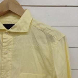 ジャックローズ コットン シャツ 19C115 黄色 / イエロー JACKROSE 無地