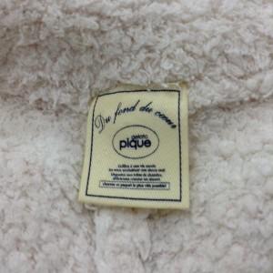 ジェラートピケ ショートパンツ/ルームウエア/もこもこ K7133 白 / ホワイト × 桃 / 薄ピンク gelato pique ボーダー