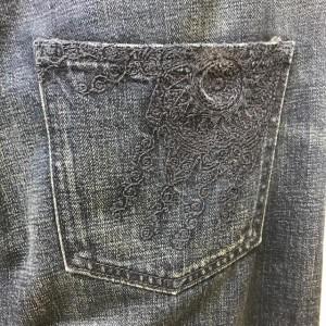 レミ レリーフ クロップド・デニム 2017111831 インディゴ REMI RELIEF ポケットに刺しゅう 綿100%