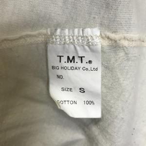 ティーエムティー 五分丈 ラグラン プリント Tシャツ カットソー S 541184 緑 / グリーン、白 / ホワイト T.M.T.