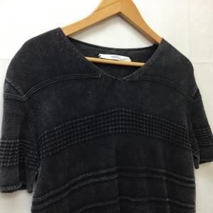 ヴァデル 織模様半袖サマーニット カットソー 2018011213 灰色 / グレー VADEL