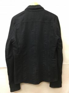 ダブルジェイケイ ストライプ柄ホックボタン長袖シャツ 2018022329 黒 / ブラック WJK ストライプ