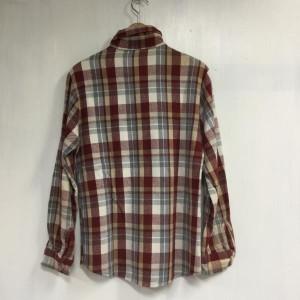 ユーズド ネルシャツ 2018030708 赤 / レッド × 白 / ホワイト × 茶 / ブラウン used チェック